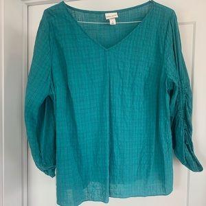 Ava + Viv teal blouse